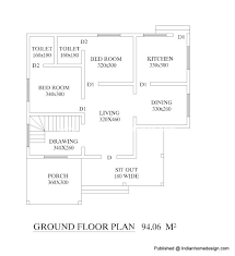 sq ft Bhk Home Floor Plan   Indian Home design   Free house     sq ft Bhk Home Floor Plan