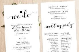 Wedding Ceremony Brochure Wedding Ceremony Booklet Printable Modern Wedding Program Template Classic Ceremony Program Template Ceremony Order Of Service Isp061