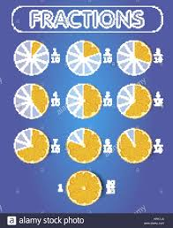 Pie Chart Fractions Icon In The Form Of Pieces Of Orange