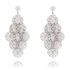 ingenious silver chandelier earrings with filigree discs