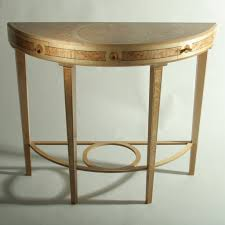 hall console table with mirror. Brilliant Demilune Table Design With Beautiful Paintings Hall Console Mirror