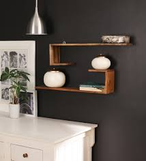 Decorative wall shelving Floating Shelves We Are Sorry But This Item Is Out Of Stock Pepperfry Buy Solid Wood Handmade Decorative Wall Shelf set Of 2 In Brown