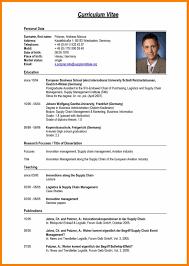 Curriculum Vitae Examples 24 Sample Of Curriculum Vitae For Job Application Pdf Edu Techation 5