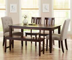 Better Homes And Gardens Kitchens Better Homes And Gardens Bankston Dining Bench Mocha Walmartcom
