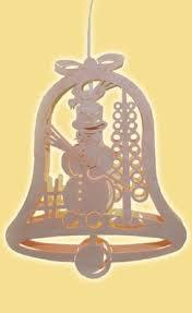 Fensterbild Glocke Mit Schneemann Elektr 28 Cm Neu Fensterdekoration Bild