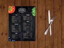 Cafe Menu Template Modern BistroCafe Menu Template Brochure Templates Creative Market 3