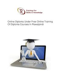 online diploma under online training of diploma courses in rawal