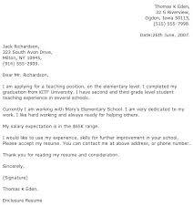 Teacher Position Cover Letter Sarahepps Com