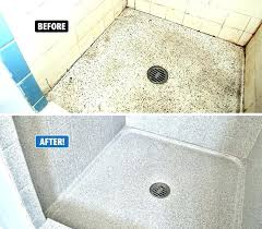 shower pan replacement shower floor replacement ugly leaking shower pan replace refinish miracle method can shower floor repair ceramic shower floor