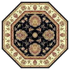 octagon rug classic black 8 ft x area shaped rugs uk