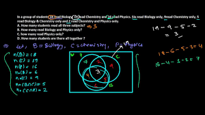 Venn Diagram Problems And Solutions With Formulas Union Of 3 Sets Word Problem Solved Youtube