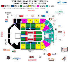 Norfolk Scope Seating Chart For Wwe Wwe Seating Related Keywords Suggestions Wwe Seating