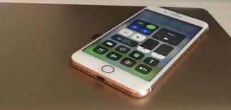 apple iphone 8 gold. apple iphone 8 plus control centre with macbook, gold iphone