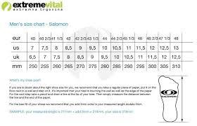 salomon size charts hiking shoes salomon x ultra 3 mid gtx shop extremevital english