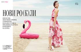 grazia 16 lvj production these looks we ve been able to create a real atmosphere as if kristina peric would chill at the beach wearing couture