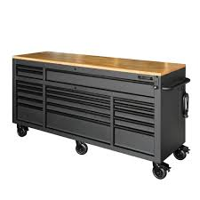 metal workbench with drawers. 18-drawer mobile workbench with adjustable-height solid wood top metal drawers