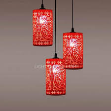 red shade 3 light e27 aperture ceramic pendant lights for bedroom within red pendant light fixture