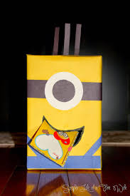 Boy Valentine Box Decorating Ideas Simple Life Of A Fire Wife Minion Valentine Box 92