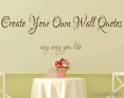 on personalized vinyl wall art message with letters wall decal etsy