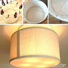 lamp shades drum lamp shade with diffuser light kit idea for transforming a ceiling fan