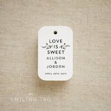 thank you tags for wedding favors love is sweet floral bouquet wedding favor tags personalized gift