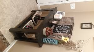 simple and easy console table with bottom shelf
