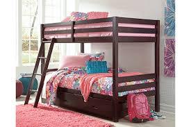 Halanton Twin over Twin Bunk Bed w Storage