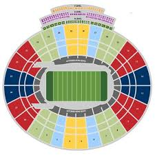 Peach Bowl 2018 Seating Chart 60 Explanatory Rose Bowl Football Seating Chart