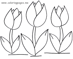 Great Tulips Coloring Pages 22 In Coloring Print With Tulips