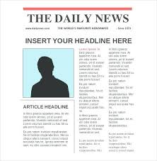 Free Front Page Newspaper Template Newspaper Layout Front Page Article Growinggarden Info