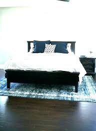 rug king under bed size designs 8a10 how to place area rug size under king