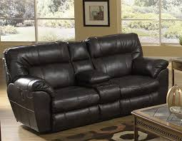 nolan leather reclining console loveseat by catnapper 4049 larger photo