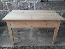 rustic fir console table 1930s for
