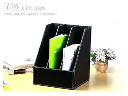 desk office file document paper. Paper Holder File Desk Folder Organizer Office Document Filing Box Leather T