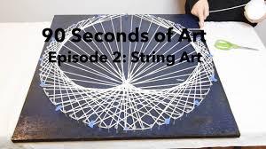 String Art 90 Seconds Of Art E2 String Art Heart Strings Youtube