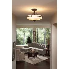 Flush Mount Kitchen Lighting Quoizel Gf1717pn Griffin 3 Light 17 Inch Semi Flush Mount