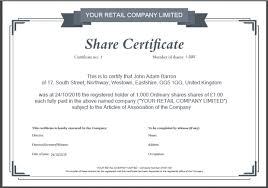 Example Of Share Certificate Inspiration Share Certificate Number Bino48terrainsco
