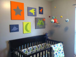 outer space nursery baby room themed crib bedding