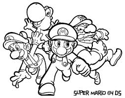 Coloring Pages Super Mario Brothers Printable Super Bros Coloring