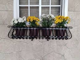 wrought iron wall planter 36 metal