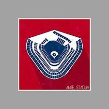 Amazon Com Artsycanvas Angel Stadium Seating Map Baseball