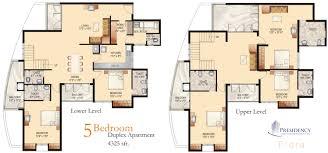 Duplex Home Design With Floor Plan Duplex Home Design With Floor 4 Bedroom Duplex Floor Plans