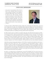 Patrick Greg Bayers Bio Resume Mesmerizing Resume Bio