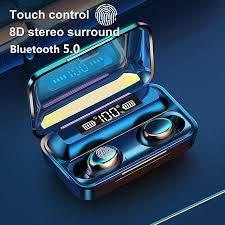 F9 5 TWS 5.0 Bluetooth kulaklık kablosuz kulaklık 8D bas Stereo kulak  kulakiçi handsfree kulaklık mikrofon ile şarj durumda Bluetooth Kulaklık &  Kulaklıklar