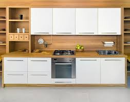 White wood kitchen Simple White Cabinets In Wood Kitchen My Karma Stream Cabinets Brisk Living