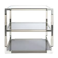 eileen grey furniture. Two Tier Nickel And Smoke Side Table Modern Furniture For Gray Inspirations Eileen Grey