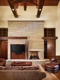 How To Painting The Stone Fireplace White U2013 Greige DesignAustin Stone Fireplace