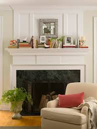 fireplace mantel decorating ideas with tv