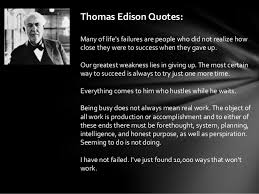Thomas Edison Quotes Magnificent Thomas Edison Quotes