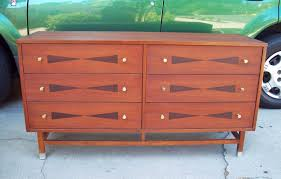 SORRY SOLD______True Vintage 1960\u0027s Mid Century Dresser / Credenza. Rare  Bowtie Dresser From Stanley Furniture. Beautiful Walnut Wood With Rosewood Inlay.
